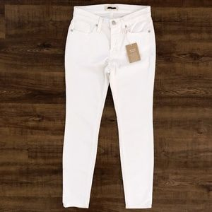 "Madewell Women's 9"" High Rise Skinny White Jeans"